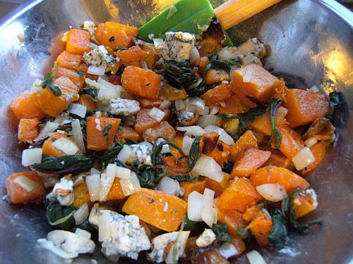 butternut blue cheese mix