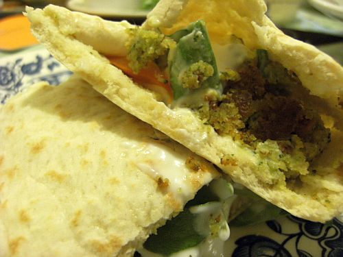 falafel in pitta mushy