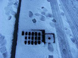 gutter in snow