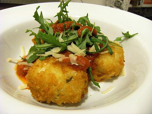 risotto balls on plate