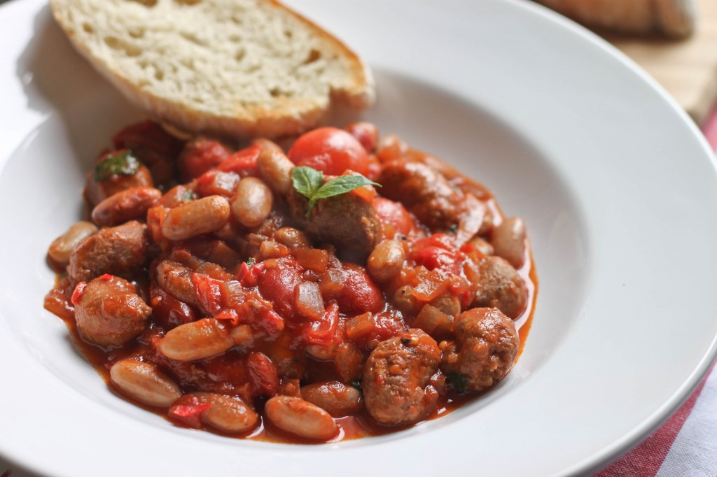 Sausage and Borlotti Bean Stew-2