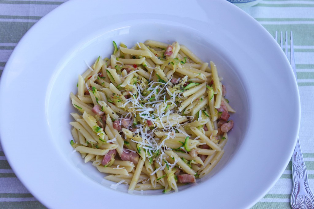Grated Courgette Pasta