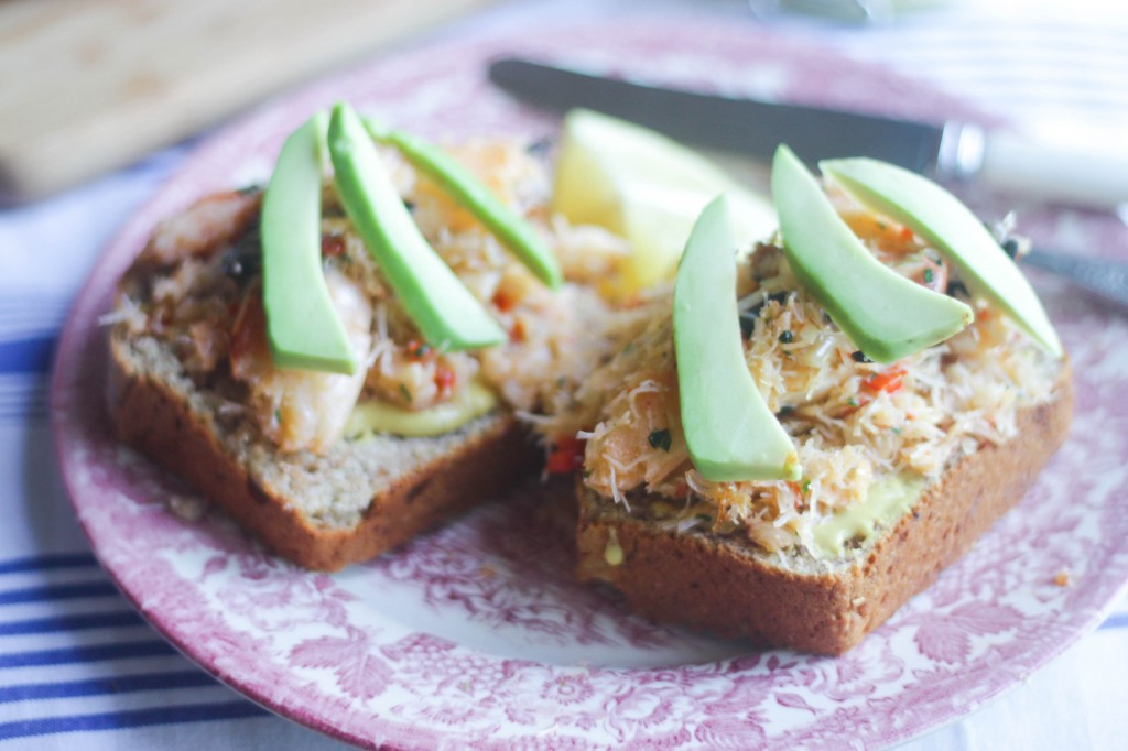 Sweet Crab on Toast